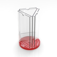 Acrylic rotating file rack